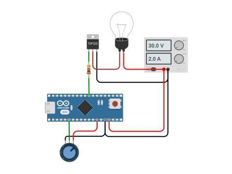 12v Pwm Dimmer W Arduino Tip120 Autodesk Circuits Arduino Circuit Dimmer