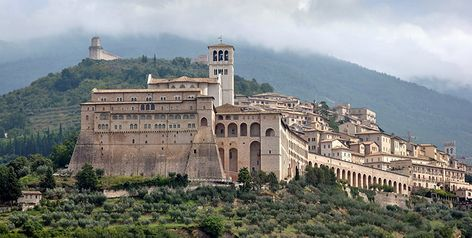 A Holy City In Cappuccino Style Assisi Umbria Italy Italia