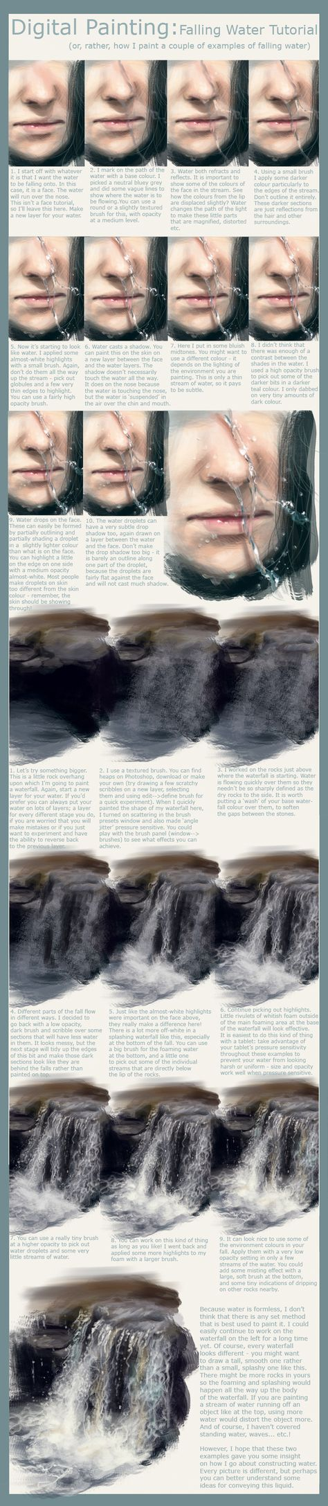Falling Water Tutorial by Foxbane.deviantart.com on @deviantART