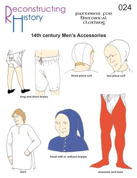 Rh024 14th Century Man S Accessories 14th Century Clothing