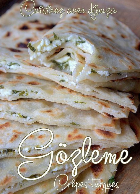 Crepes turques farcies gozleme