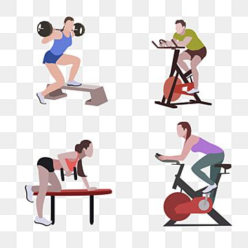 Hand Drawn Healthy Fitness Exercise Exercise Clipart Health Motion Png And Vector With Transparent Background For Free Download In 2021 Exercise Anaerobic Exercise Healthy Fitness