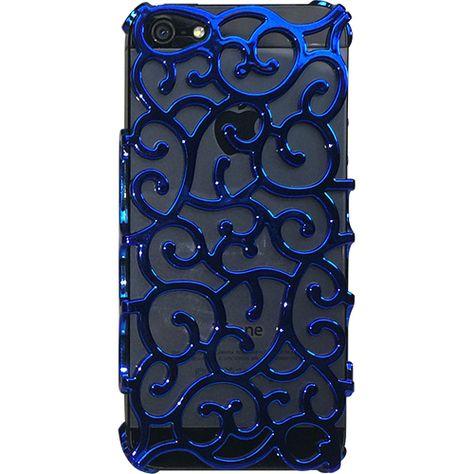 iPhone 5 / 5S için Ozi Mavi Sarmaşık Kapak