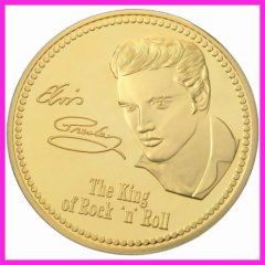 Elvis Presley Gold Plated Commemorative Coin Commemorative Coins