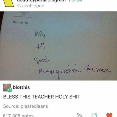 If I ever became a teacher (I won't) I be like this