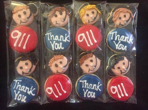 911 Dispatcher Sugar Cookie Sleeves by CrowsCustomCookies on Etsy