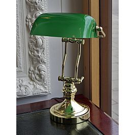 Lampe De Banquier Laiton Abat Jour Vert Twin Support Bankers Lamp Lamp Bankers Desk Lamp