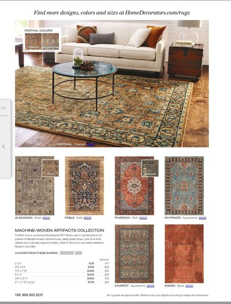 299 5 3 X7 10 Home Decorator Festival Area Rugs Tobacco Http