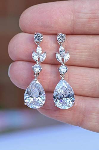 Good No Cost Aretes Boda Bridal Earrings Suggestions Wedding Party Rings Is A Fundam In 2020 Wedding Earrings Drop Crystal Bridesmaid Earrings Art Deco Wedding Jewelry