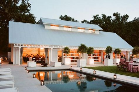 One of our favorite winery wedding venues.. Durham Ranch in Napa. Not much better than a white modern barn in wine country.