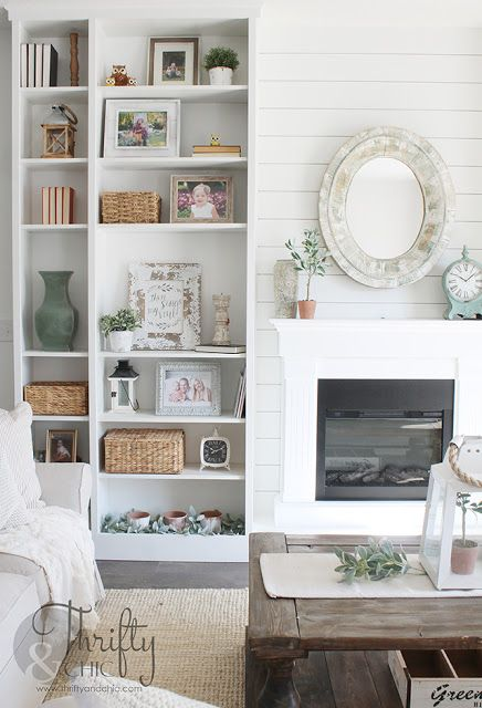 Diy Built In Bookshelves From Ikea Billy Bookcases With Fireplace Bookshelves In Living Room Bookshelves Built In Living Room Decor Tips