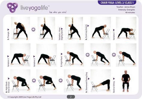 Printable Chair Yoga Poses Yoga For Seniors Chair Pose Yoga Chair Yoga