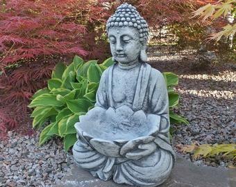 Buddha Statue Etsy Buddha Garden Garden Statues Buddha Statue Garden