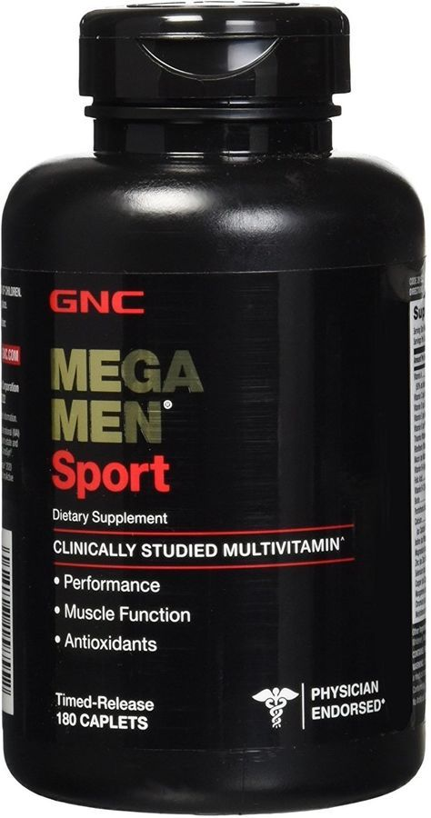 Best Multivitamin For Men >> Mega Men Sport Gnc 180 Caplets Sport Men Mega Stylish Office