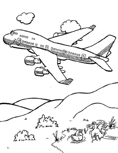 Coloriage Avion Les Beaux Dessins De Transport A Imprimer Et