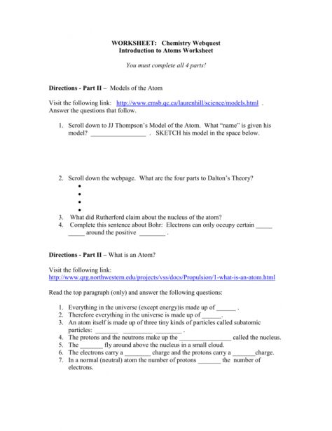 9 Atomic Theory Reading Worksheet Doc Check More At Https