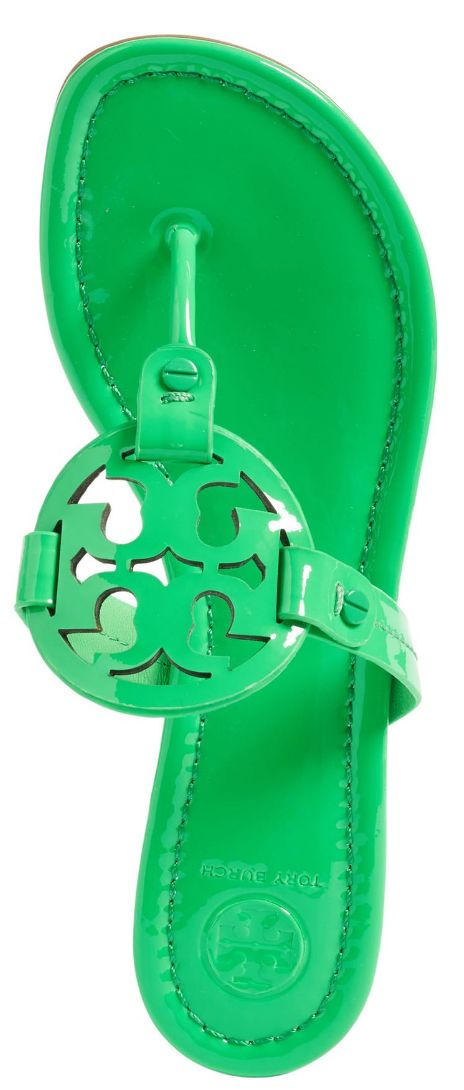 Tory Burch Miller flip flops in Kelly Green
