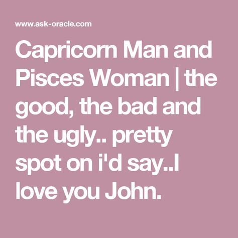 What to say to a capricorn man
