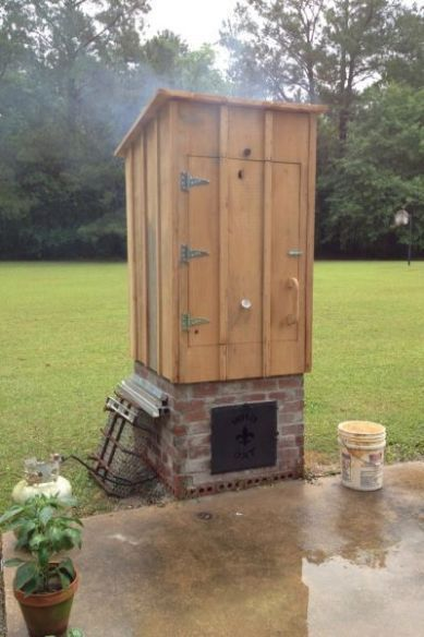 23 Awesome DIY Smokehouse Plans You Can Build in the ... on meat smokers, frig plans, smoke house plans, smoker plans, meat chicken coop plans, meat smoking and smokehouse design, outhouse plans,