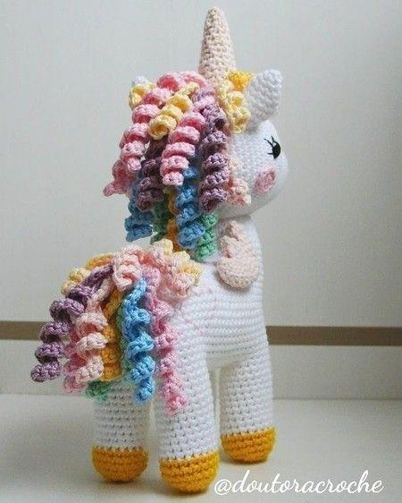 Amigurumi Unicórnio Jolly Em Crochê – Material e Receita | Bigtudo ... | 562x450