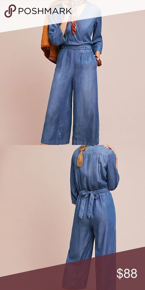 Anthropologie Cloth Stone Chambray