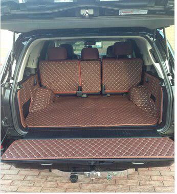 Chowtoto Waterproof Boot Carpets For Lx570 5 Seats Trunk Mat Aa