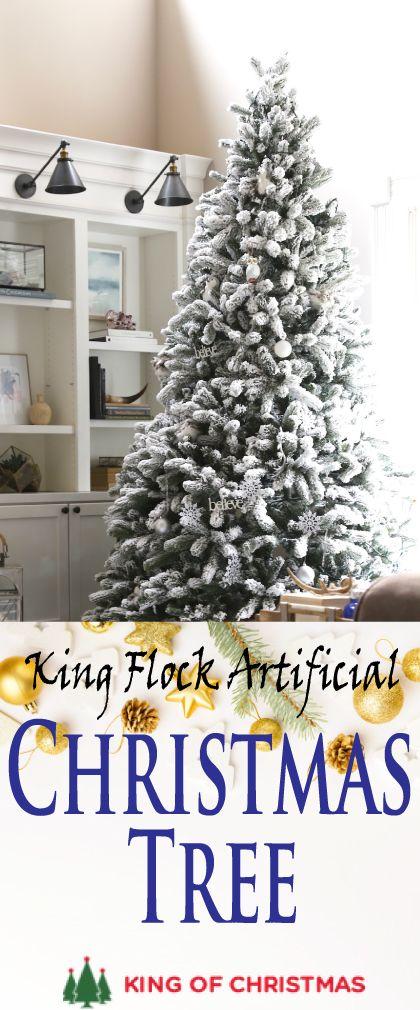 King Flock Christmas Tree King Of Christmas Flock Christmas Trees