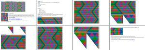 driekhoek zeshoek patroon