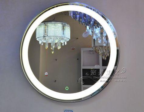 2013新款 Led灯镜 超薄浴室镜 防水防雾 触控开关 浴室首选现代镜 淘宝