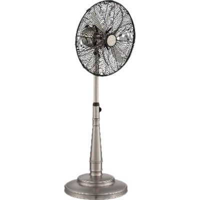Savoy House Oscillating Pedestal Fan Finish: Satin Nickel