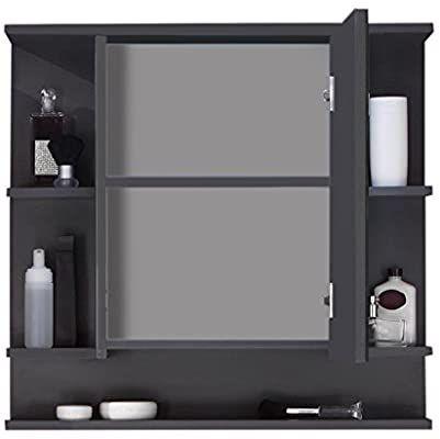 Trendteam Smart Living Badezimmer Spiegelschrank Spiegel Tetis 72 X 76 X 20 Cm In Korpus Graphit Dunkelg In 2020 Badezimmer Spiegelschrank Spiegelschrank Badezimmer
