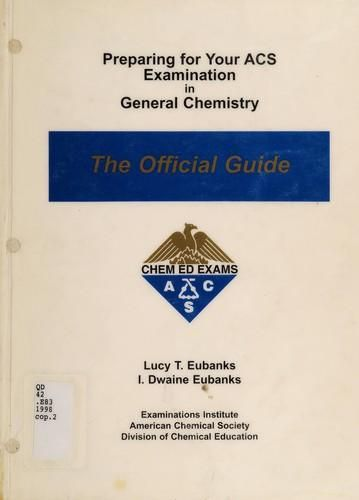 Pdf Ebook Preparing For Your Acs Examination In General Chemistry By Lucy T Eubanks In 2021 Ebook Buy Ebook Chemistry