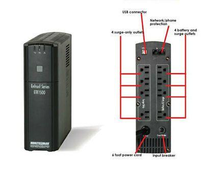 Ebay Link Ad Minuteman 1500va Ups Uninterruptible Power Supply Surge Protector Etr1500 900w Uninterruptible Power Supplies Ups System Power