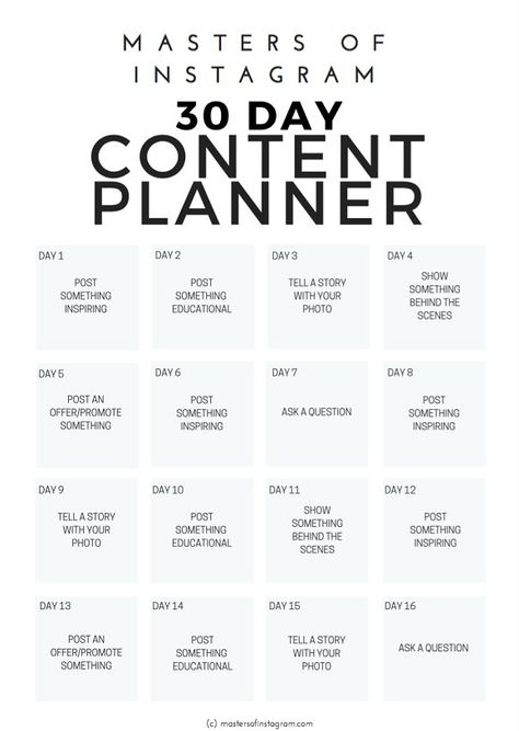 This 30 Day Instagram Content Planner will help you organise your thoughts and plan out your content so that you can see, month by month, how your Instagram is progressing and how you can bring value to your followers. #blogging #socialmedia #marketing #instagram #planner #instagramplanner #socialmediamarketing