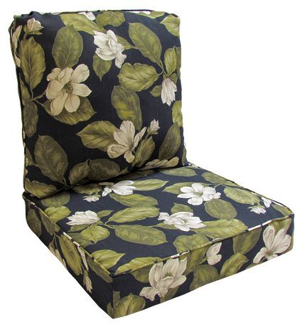 Hometrends Black Floral Deep Seat Cushion Walmart Canada Deep