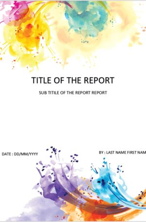Cover Page Template In Word For Report Download Design Templates In 2020 Cover Page Template Cover Page Template Word Cover Pages