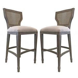 Provencal Cane Back Bar Stools Bar Stools Upholstery Fabric For Chairs Teal Accent Chair