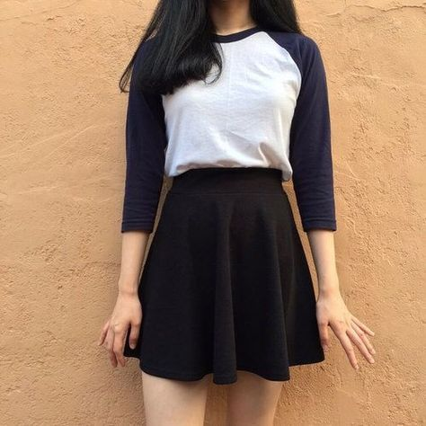 New skirt outfits casual korean ideas