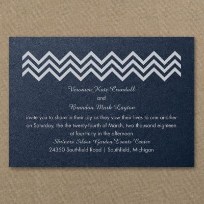 Blue and White Wedding Ideas - Crazy in Love - Classic Invitation - Navy Shimmer | Occasions In Print, LLC (Invitation Link - http://occasionsinprint.carlsoncraft.com/Wedding/Wedding-Invitations/3214-MM1327031125-Crazy-in-Love--Classic-Invitation--Navy-Shimmer.pro)