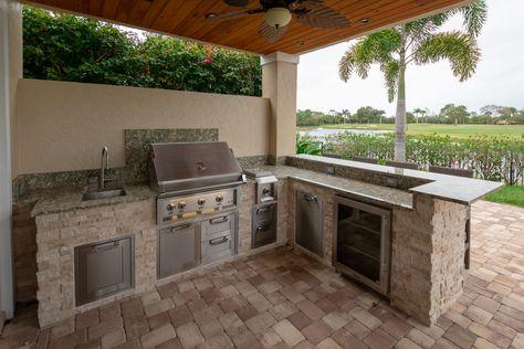 Outdoor Kitchen West Palm Beach Golf Course Views Palmbeachgrillcleaner Outdoorentertainment Outdoorgri In 2020 Outdoor Kitchen Outdoor Appliances Outdoor Grills