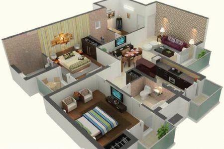 15 45 Duplex House Plan House Floor Plan Ideas Philippines House Design Home Design Plans 1000 Sq Ft House