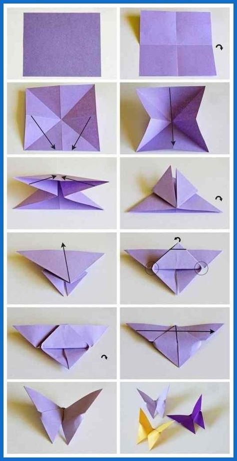 origami butterflies how to make a paper butterfly easy origami ... | DIY and Crafts