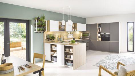 Cuisine Blanche Style Scandinave Cuisine Equipee Cuisinella En