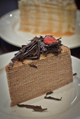 Mille Crepes Belgium Chocolate Velvet @ Open Recipe