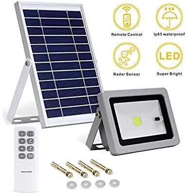 Lineway Solar Flood Lights Outdoor Dusk To Dawn Remote Control Led Solar Security Lights 3 Modes 1 Solar Flood Lights Solar Security Light Solar Powered Lights Solar powered flood light dusk to dawn
