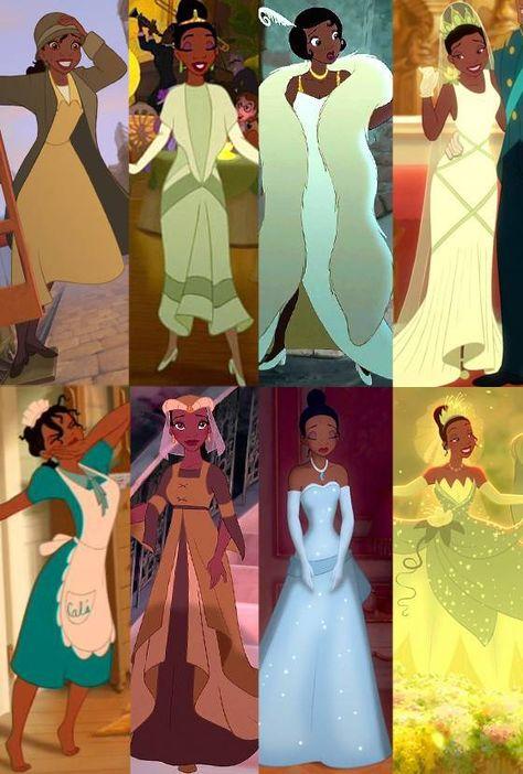 Tiana, The Princess and the Frog, Disney Princess Wardrobe Tiana Disney, All Disney Princesses, Disney Princess Drawings, Cute Disney, Disney Drawings, Disney Magic, Disney Girls, Princesa Tiana, Disney Cartoons