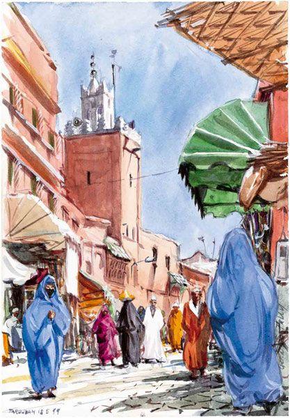 Tableau Orientaliste Medina Peinture Orientaliste Paysage