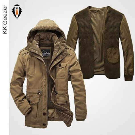High Quality Casual Men's Winter Jacket Cotton Padded Jacket
