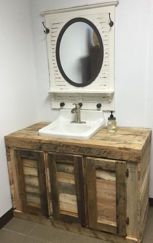 Explore Rustic Bathroom Vanities On Pinterest See More Ideas About Rustic Bathroom Vanities Barn Diy Bathroom Rustic Bathrooms Rustic Bathroom Vanities