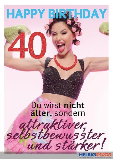 Frau geburtstag witzig 40 Einladungskarten 40